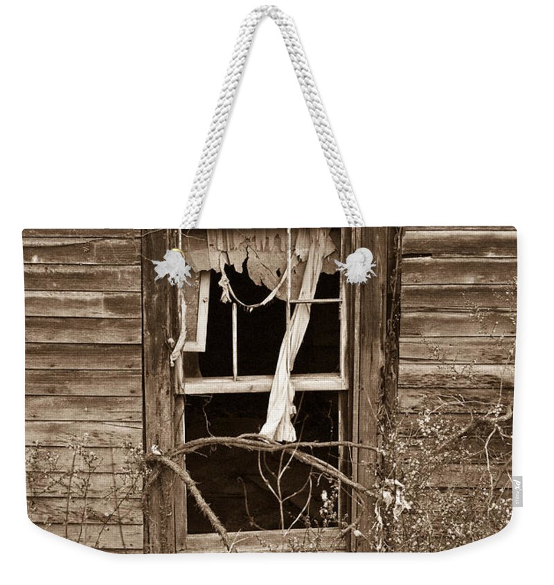 Forlorn Weekender Tote Bag featuring the photograph Forlorn Window by Douglas Barnett