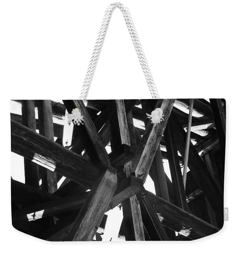 Abstract Weekender Tote Bag featuring the photograph Form And Function 4 by Xueling Zou