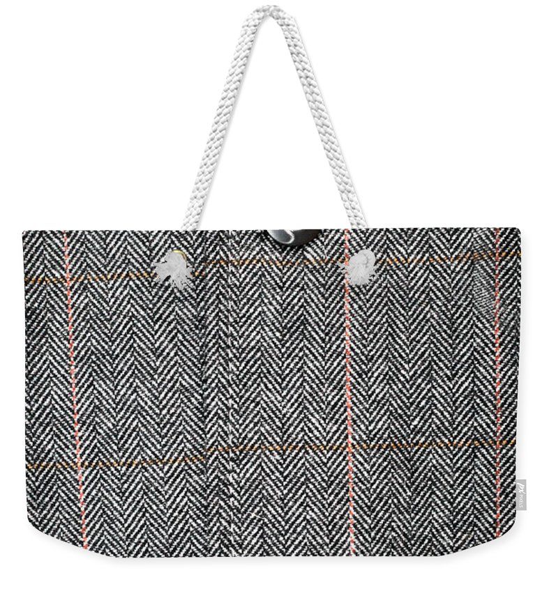 Background Weekender Tote Bag featuring the photograph Formal Jacket by Tom Gowanlock