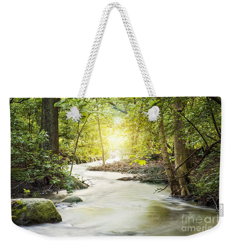 Europe Weekender Tote Bag featuring the photograph Forrest Stream by Sophie McAulay