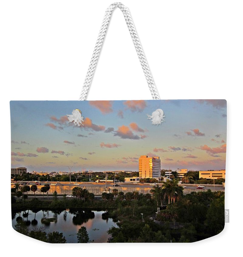 Fort Lauderdale Florida Weekender Tote Bag featuring the photograph Fort Lauderdale Scene by MTBobbins Photography