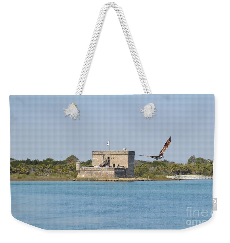 Fort Matanzas Weekender Tote Bag featuring the photograph Fort Matanzas by Meandering Photography