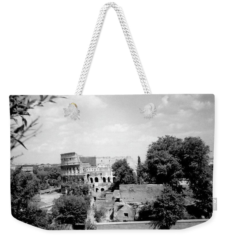 Forum Romanum Weekender Tote Bag featuring the photograph Forum Romanum Rome Italy by Heike Hellmann-Brown