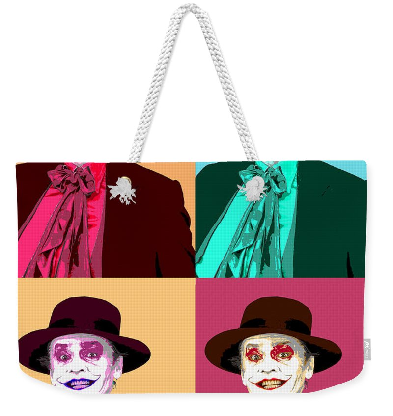 Pop Art Weekender Tote Bag featuring the mixed media Four Jacks by Dominic Piperata