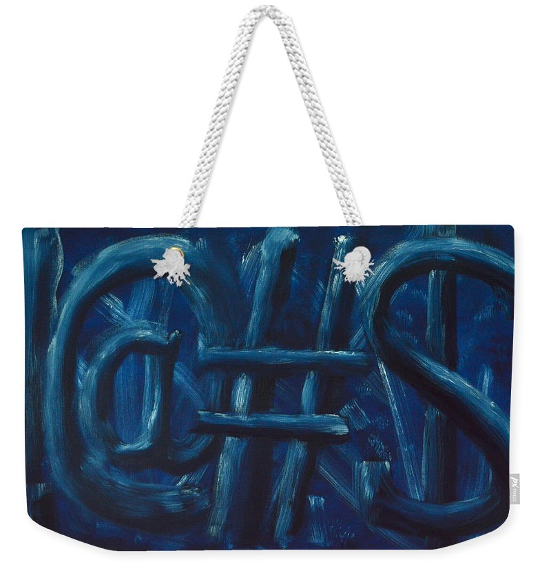 !@#$ Weekender Tote Bag featuring the painting Four Letter Words by Shawn Marlow