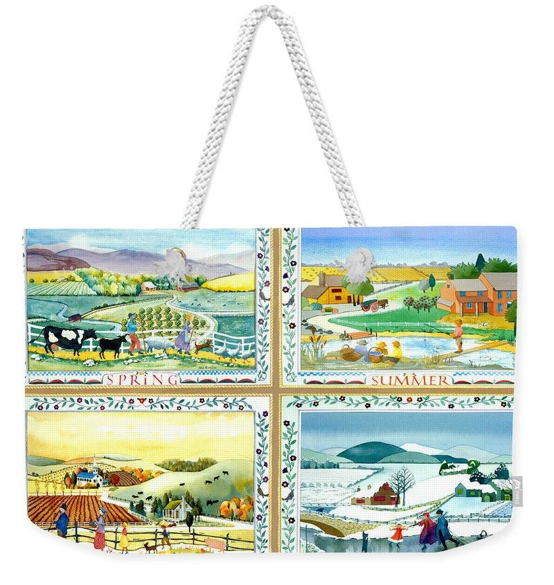 Julia Rowntree Weekender Tote Bag featuring the photograph Four Seasons by Julia Rowntree