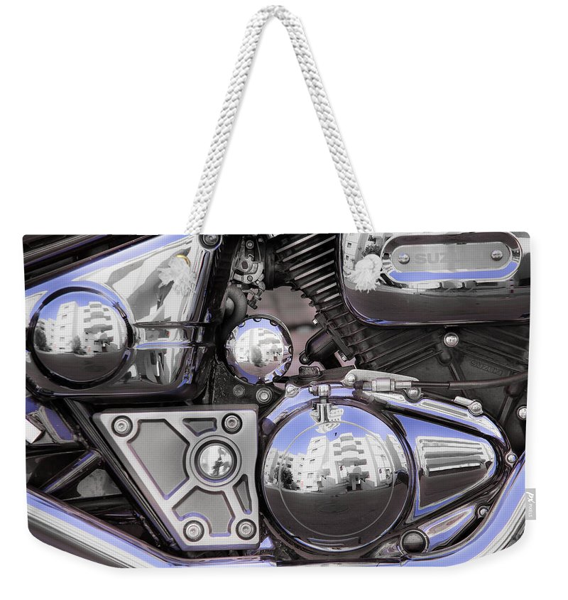 Bike Weekender Tote Bag featuring the photograph Four-stroke by Edgar Laureano
