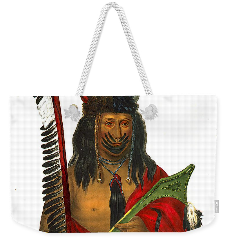 Kish Ke Kosh Fox Brave 1836 Weekender Tote Bag featuring the digital art Fox Brave 1836 by Unknown