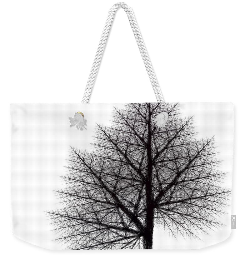 Fractal Weekender Tote Bag featuring the digital art Fractal Essence Of A Tree by Richard Ortolano
