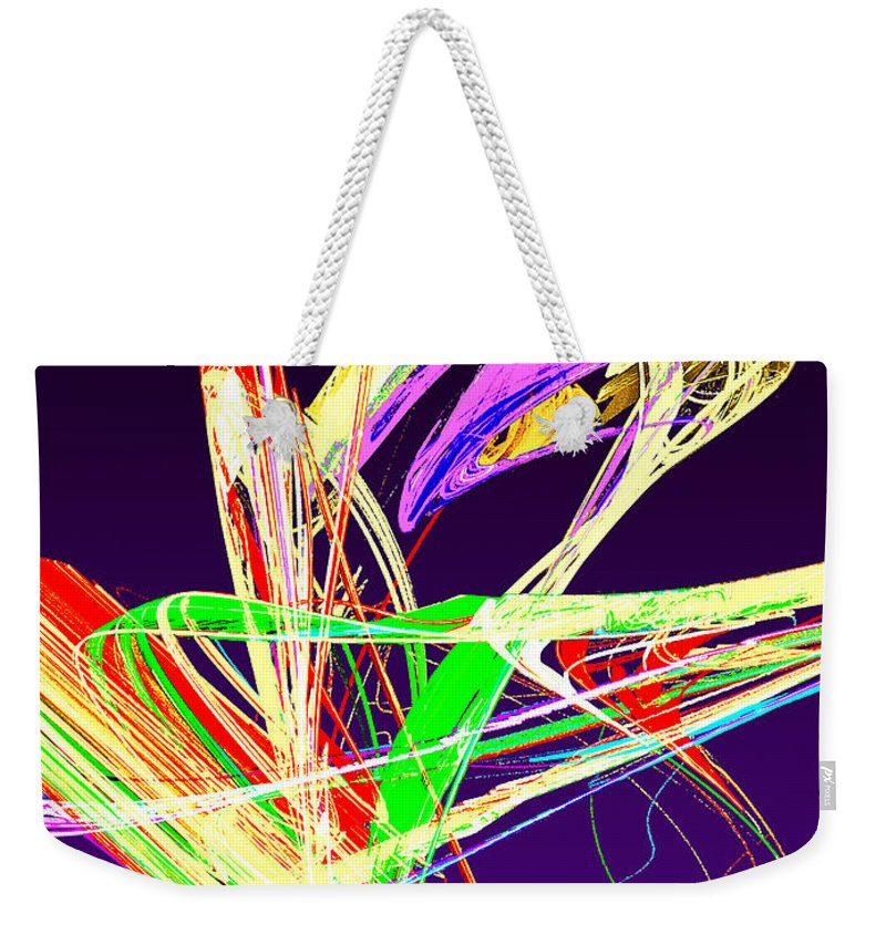 Pussy Willow Weekender Tote Bag featuring the photograph Fractal - Pussy Willows by Susan Savad