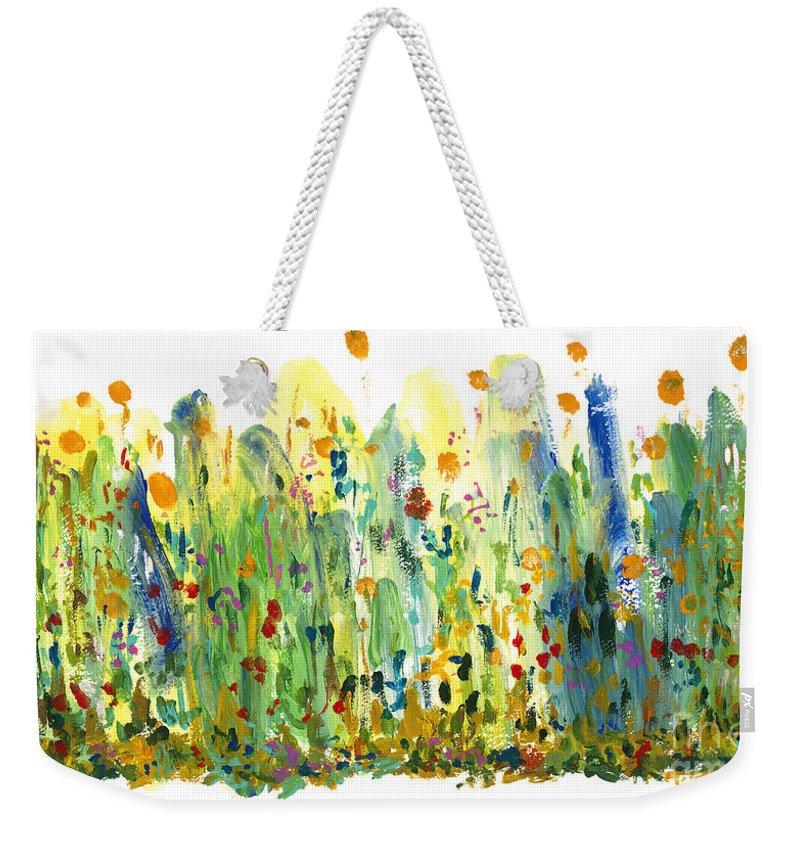 Fragrance Weekender Tote Bag featuring the painting Fragrance by Bjorn Sjogren