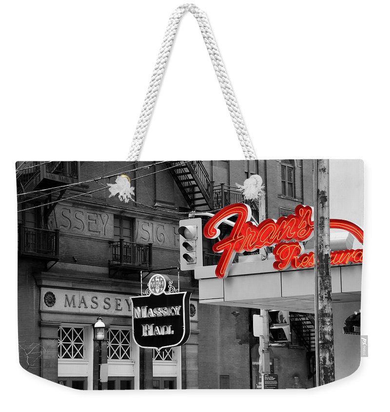 Frans Weekender Tote Bag featuring the photograph Frans Restaurant 2 by Andrew Fare
