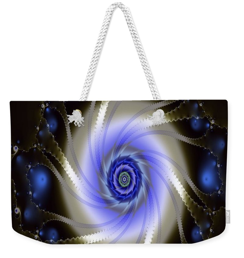 Fractal Art. Digital Image Weekender Tote Bag featuring the digital art Fraxal Vision by Mario Carini