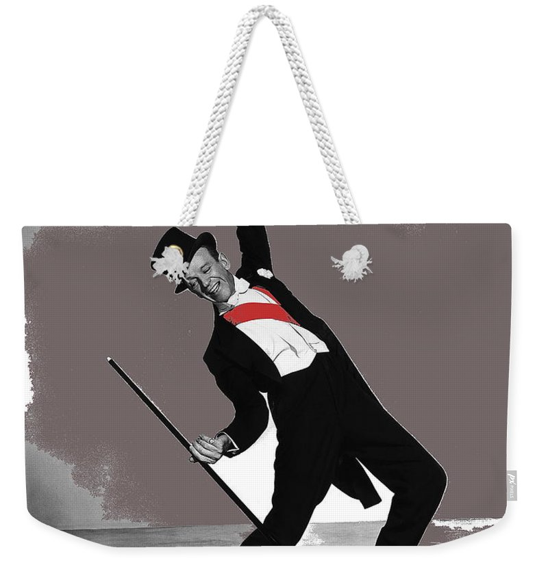 Fred Astaire Silk Stockings Publicity Photo 1957 Weekender Tote Bag featuring the photograph Fred Astaire Silk Stockings Publicity Photo 1957-2014 by David Lee Guss