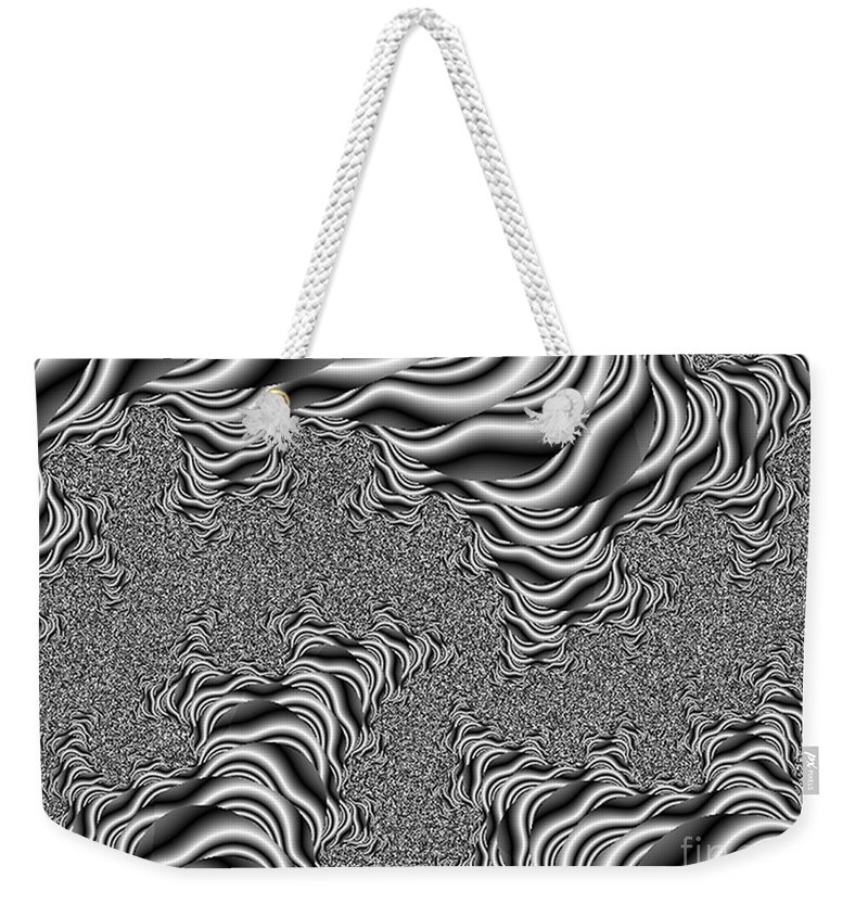 White Weekender Tote Bag featuring the digital art Birds Eye View by Dana Haynes