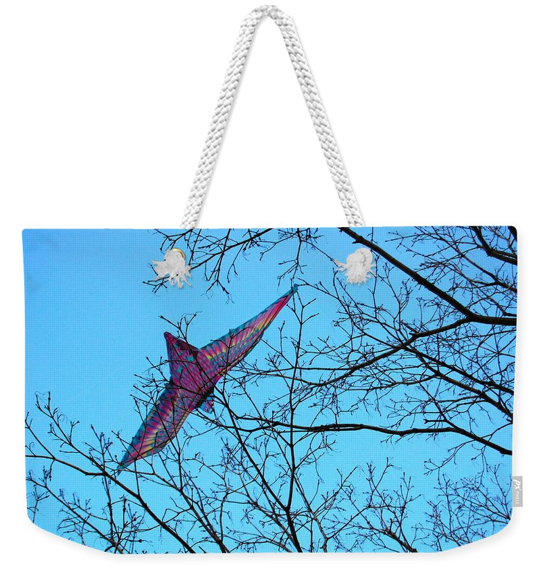Trees Weekender Tote Bag featuring the photograph Free Bird by Fareeha Khawaja