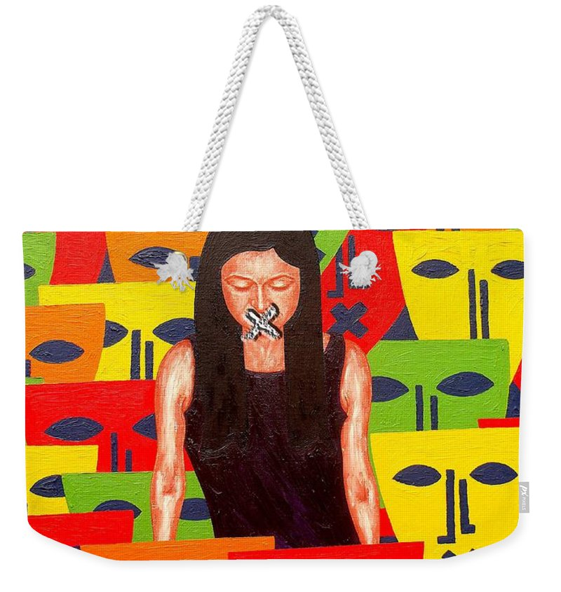 Speech Weekender Tote Bag featuring the painting Free Speech by Patrick J Murphy
