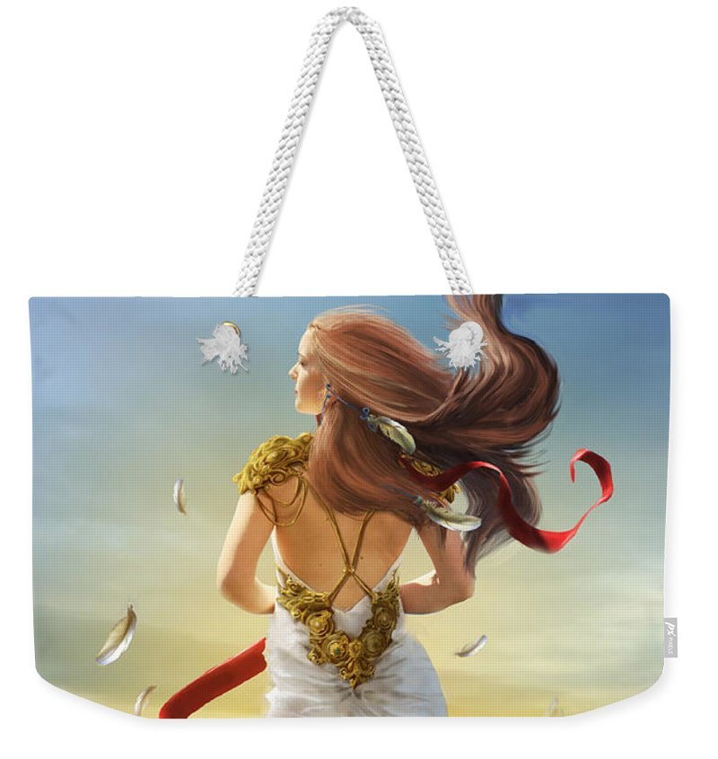 Fantasy Weekender Tote Bag featuring the digital art Freedom by Cassiopeia Art