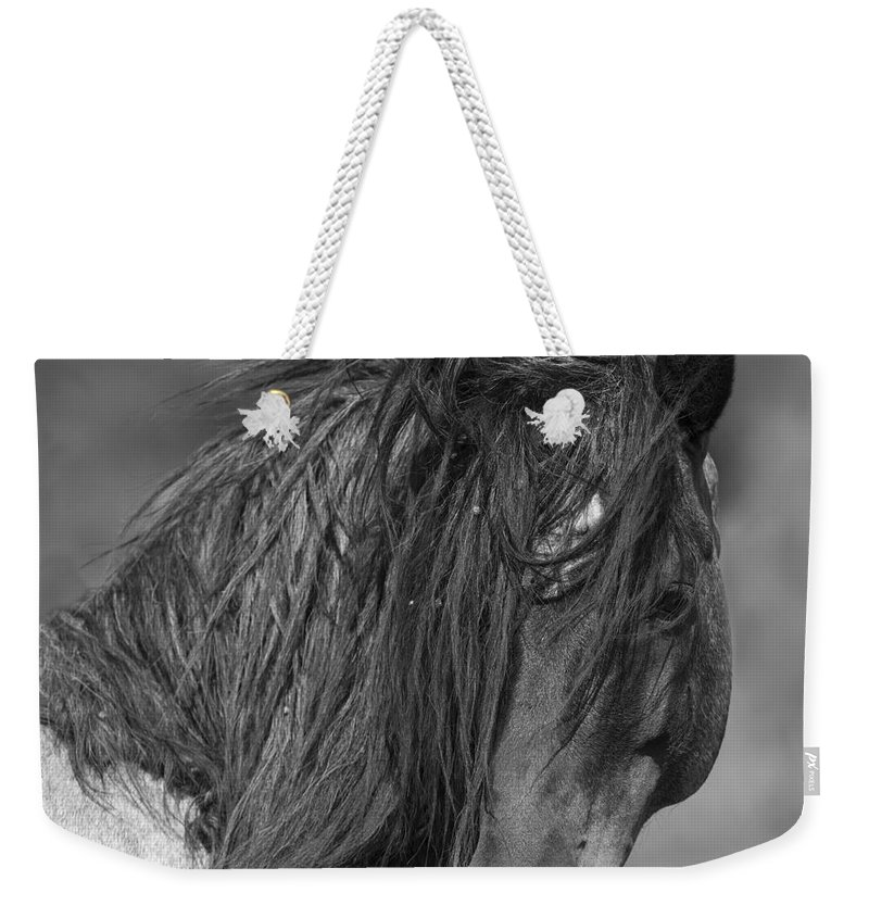 Mustang Weekender Tote Bag featuring the photograph Freedom Close Up by Carol Walker