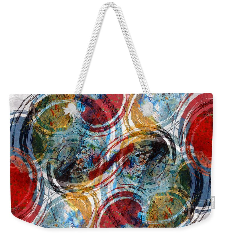 Abstract Weekender Tote Bag featuring the digital art Freedom by Ruth Palmer