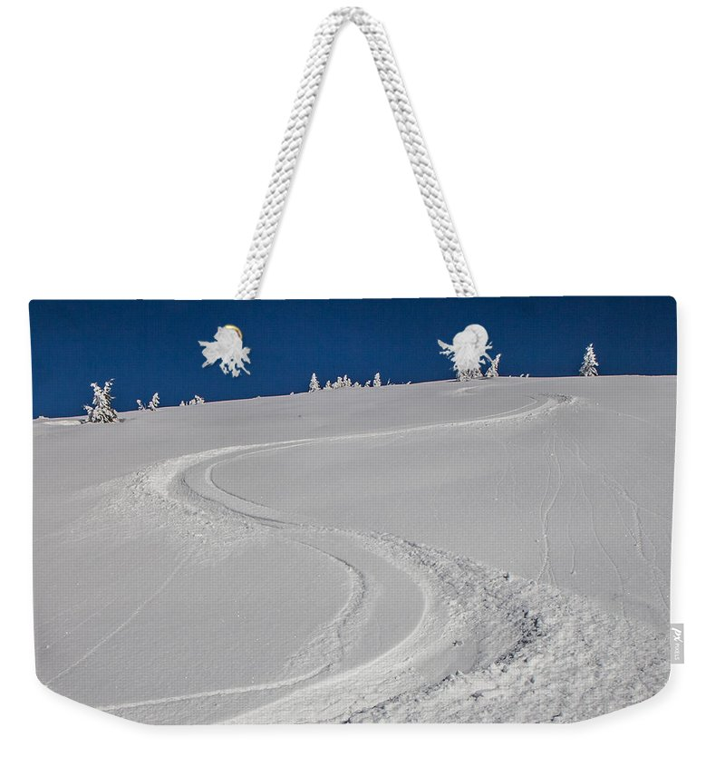 Snow Weekender Tote Bag featuring the photograph Freeride by Jan Stria