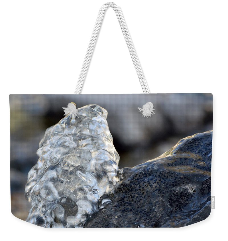 Water Weekender Tote Bag featuring the photograph Freeze Gurgling Water 2 by Brent Dolliver