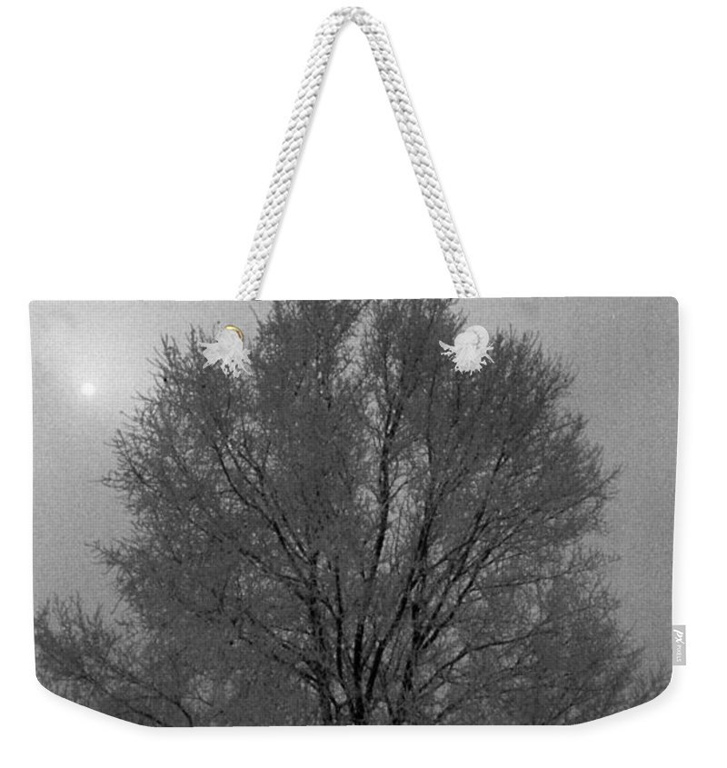 Fog Weekender Tote Bag featuring the photograph Freezing Fog by Mike Wheeler