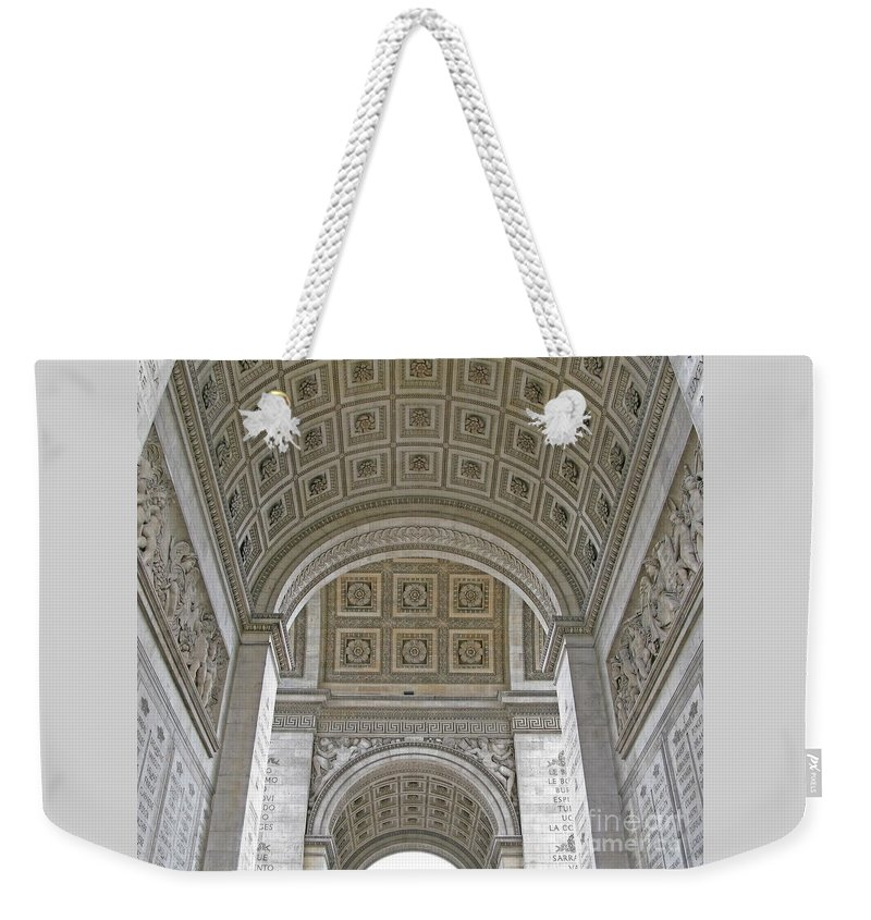 Arc De Triomphe Weekender Tote Bag featuring the photograph French History by Ann Horn