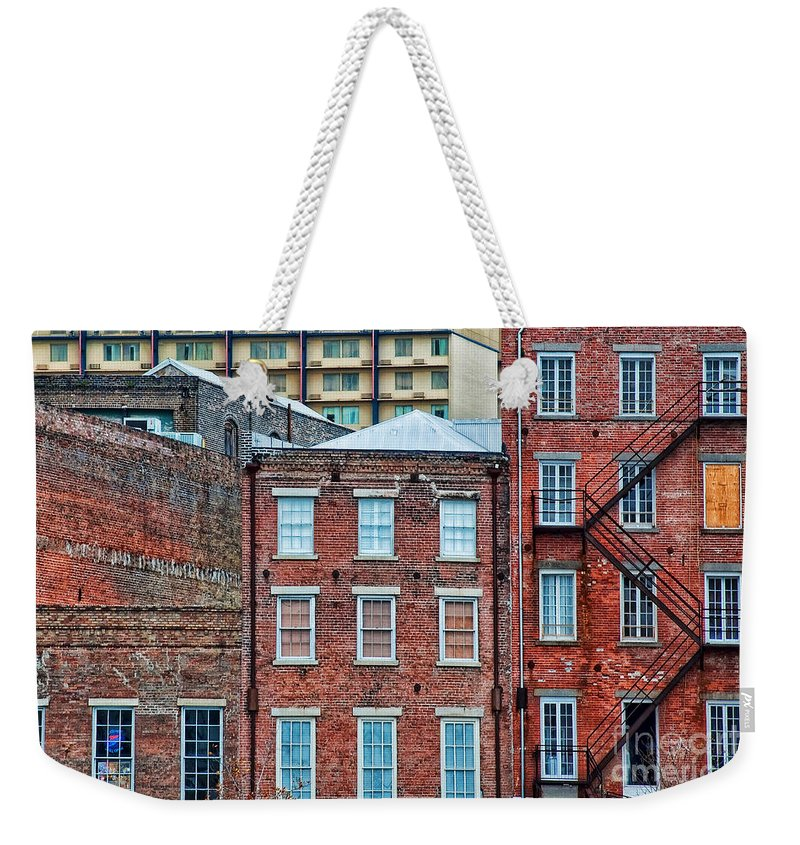 Buildings Weekender Tote Bag featuring the photograph French Quarter Facades New Orleans by Kathleen K Parker