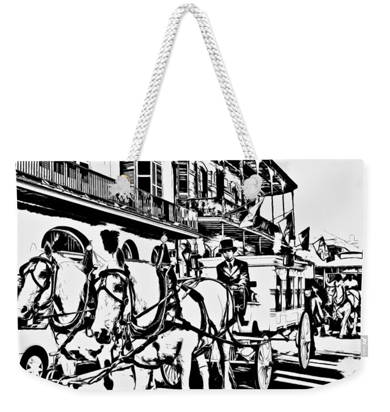 French Quarter Weekender Tote Bag featuring the photograph French Quarter - The Final Ride by Steve Harrington