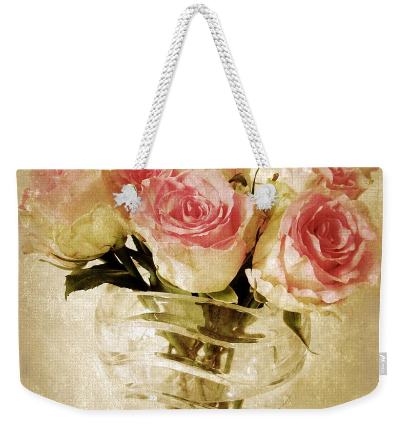Roses Weekender Tote Bag featuring the photograph Fresco Roses by Jessica Jenney
