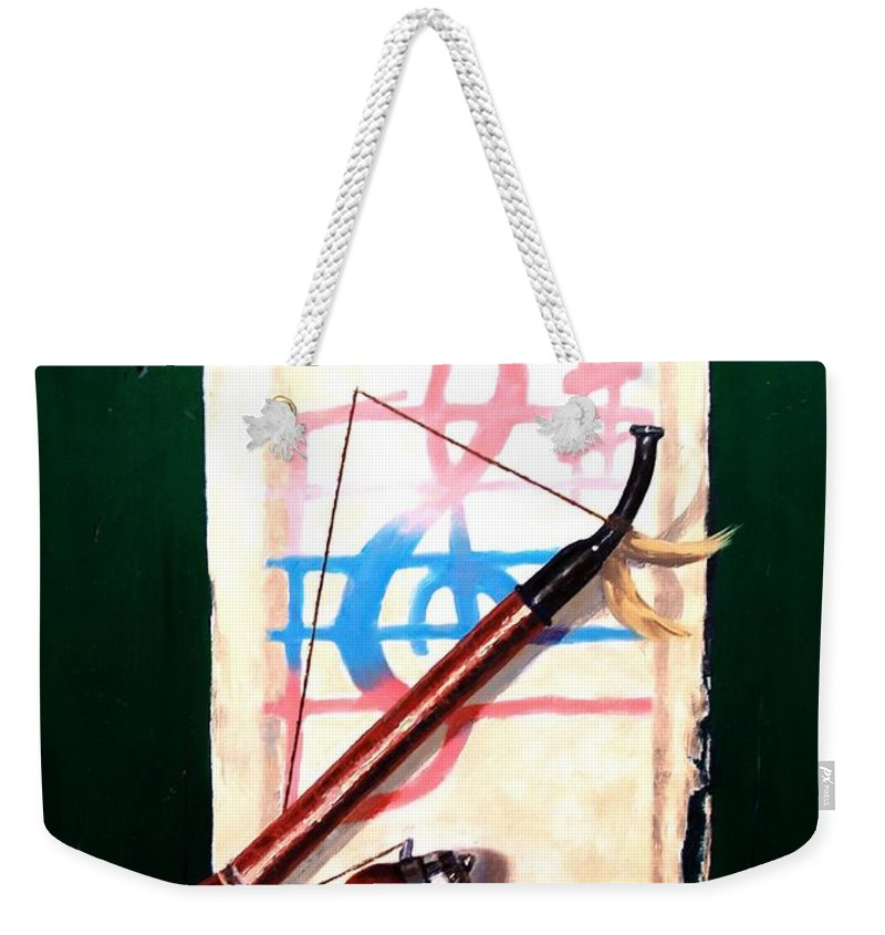 Still Life Weekender Tote Bag featuring the painting Fresh Air by Jim Gola