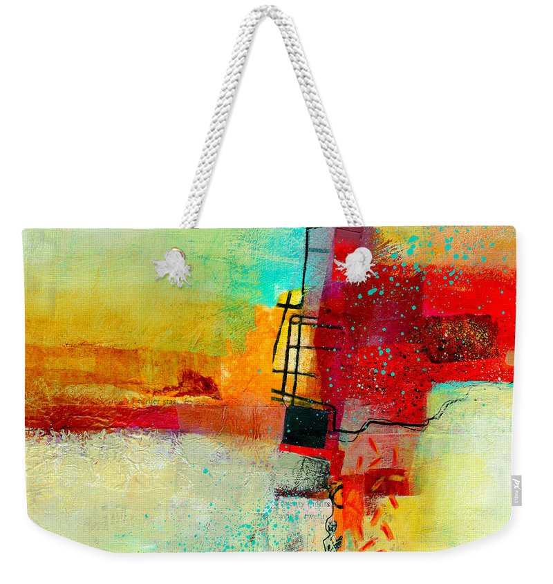 9x9 Weekender Tote Bag featuring the painting Fresh Paint #2 by Jane Davies