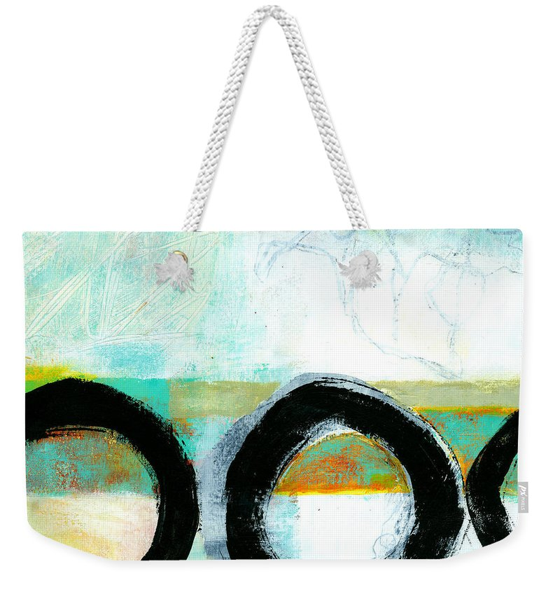 8�x8� Weekender Tote Bag featuring the painting Fresh Paint #4 by Jane Davies