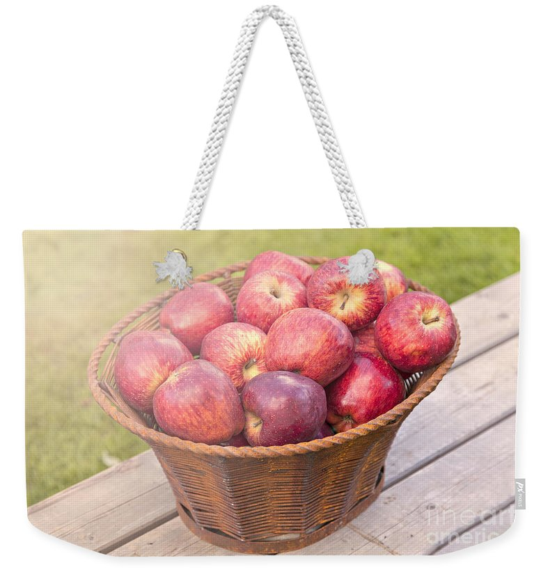 Metal Weekender Tote Bag featuring the photograph Fresh Red Apples by Sophie McAulay