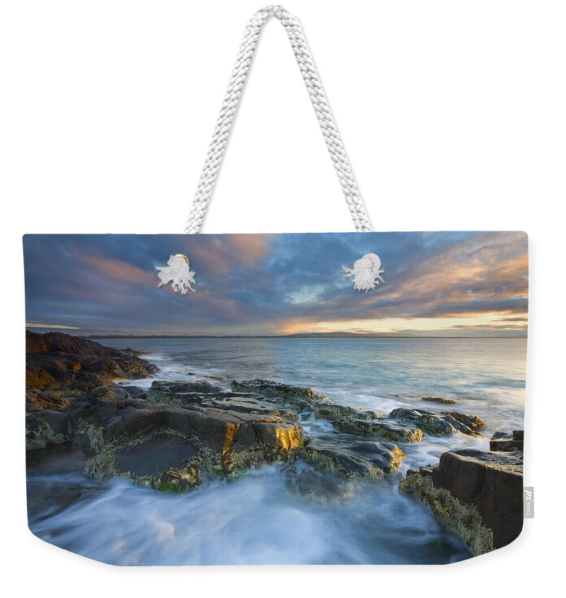 Freycinet Weekender Tote Bag featuring the photograph Freycinet Cloud Explosion by Mike Dawson