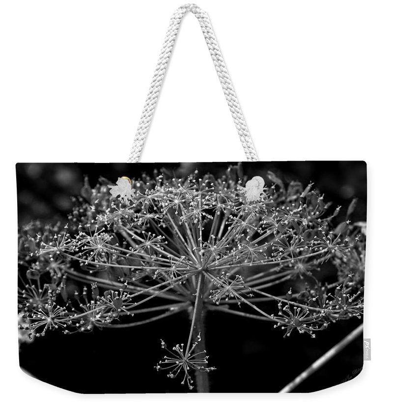 Foliage Weekender Tote Bag featuring the photograph Frills In Black And White by Jeanette C Landstrom