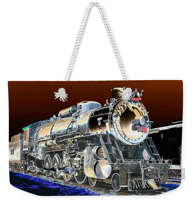 Train Weekender Tote Bag featuring the photograph Frisco 1519 - Photopower 1463 by Pamela Critchlow
