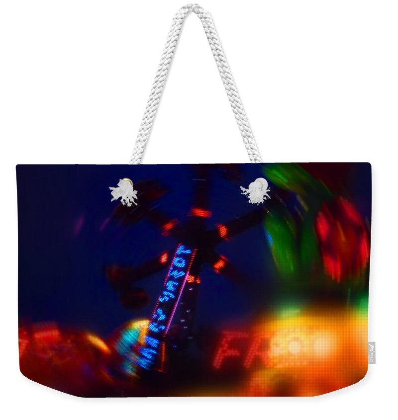Fun Fair At Night Weekender Tote Bag featuring the painting Frog by Charles Stuart