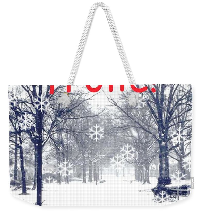 Holiday Card Weekender Tote Bag featuring the digital art Frolic by Lizi Beard-Ward
