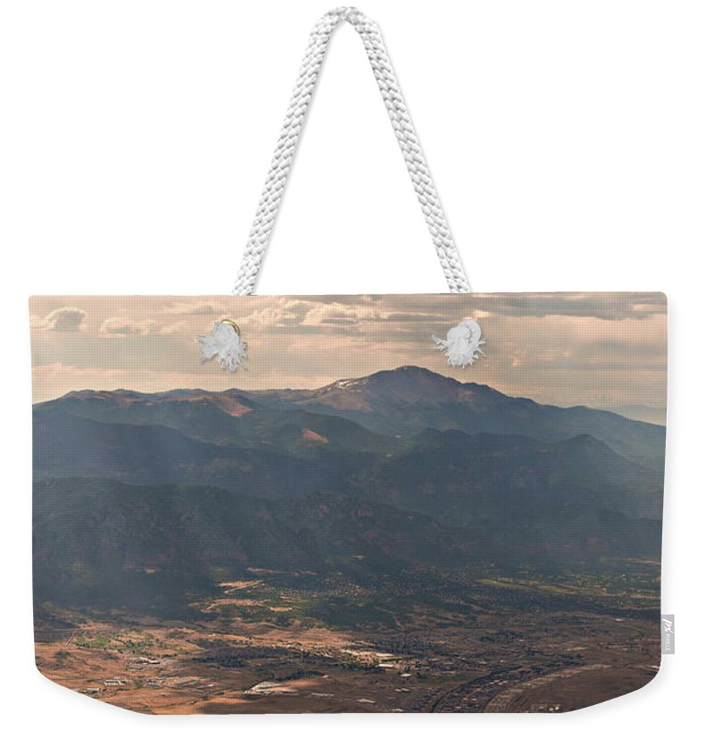 Featured Weekender Tote Bag featuring the photograph From A Distance by Paulette B Wright