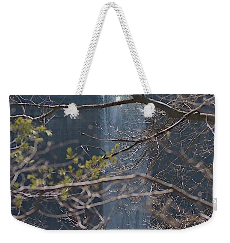 Falls Weekender Tote Bag featuring the photograph From A Height by Joseph Yarbrough