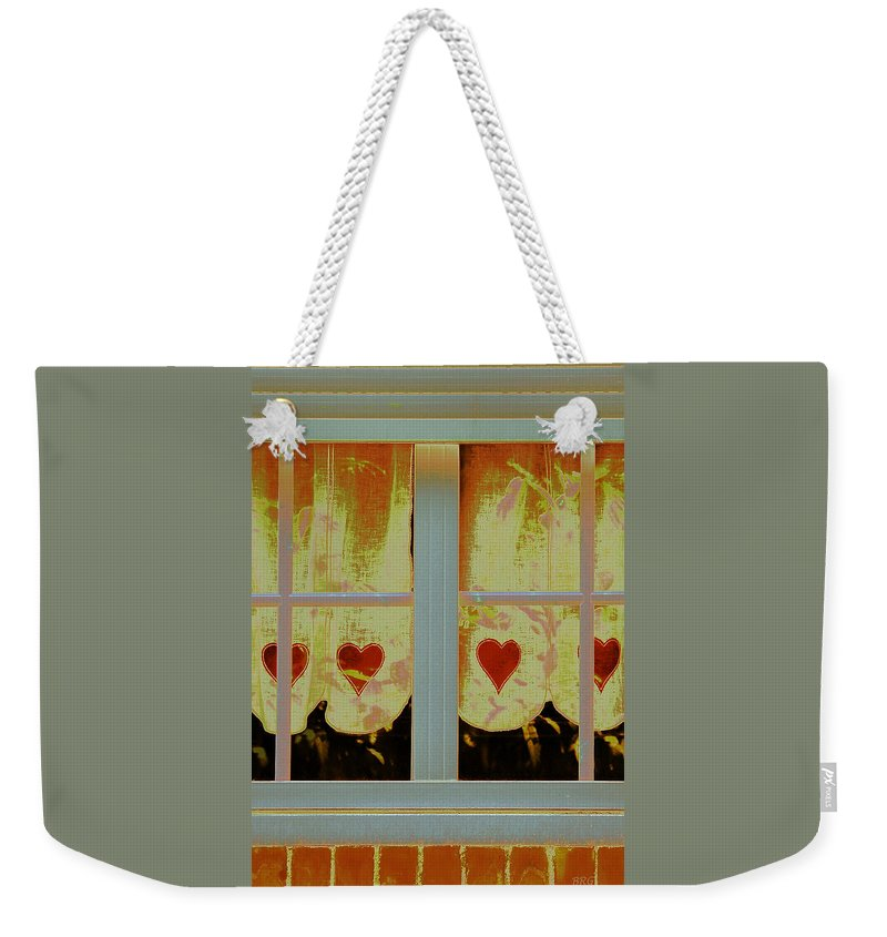 Country Window Weekender Tote Bag featuring the photograph From French Riviera Window With Love by Ben and Raisa Gertsberg