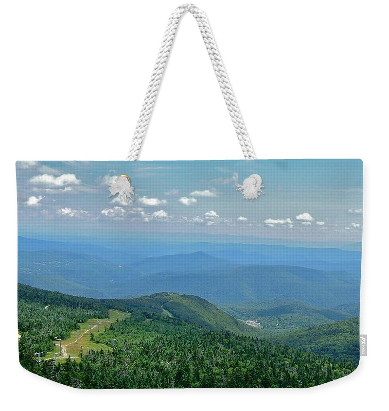 View Weekender Tote Bag featuring the photograph From Mt. Killington by Susan Wyman
