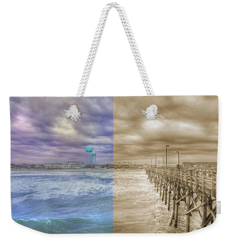 Topsail Weekender Tote Bag featuring the photograph From Past To Present by Betsy Knapp