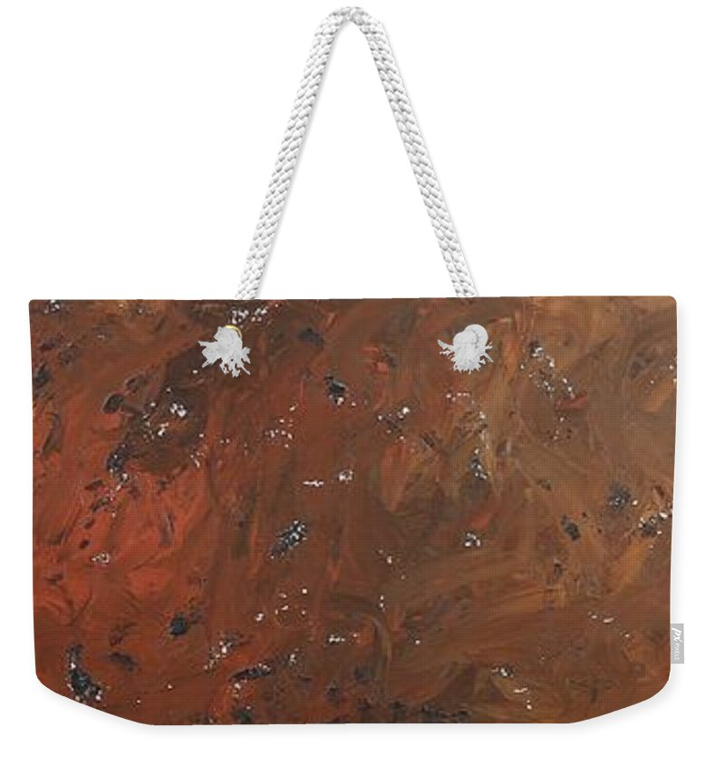 Abstract Weekender Tote Bag featuring the painting ...from The Ashes by David Mayeau
