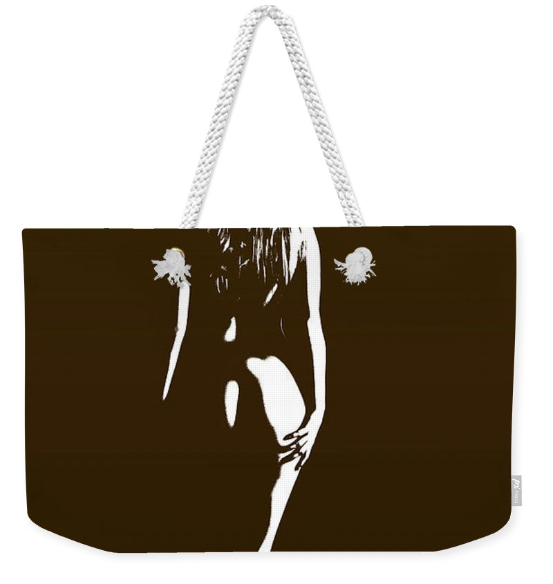 Nude Female Photographs Weekender Tote Bag featuring the photograph From The Back 1081 .01b by Kendree Miller