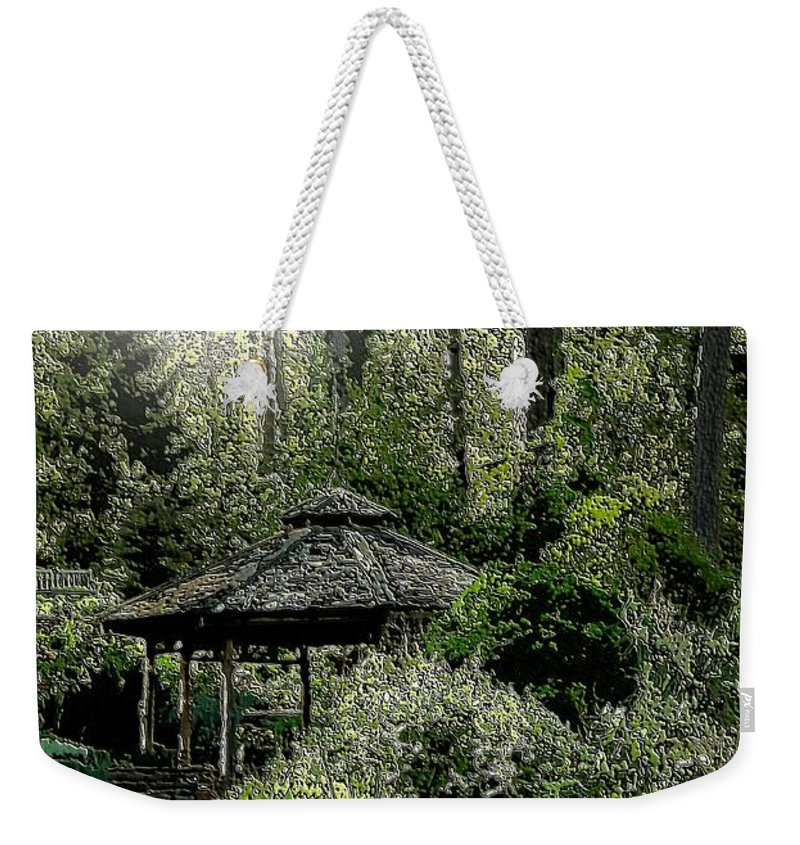 From Whence The Light Came Weekender Tote Bag featuring the digital art From Whence The Light Came by Maria Urso