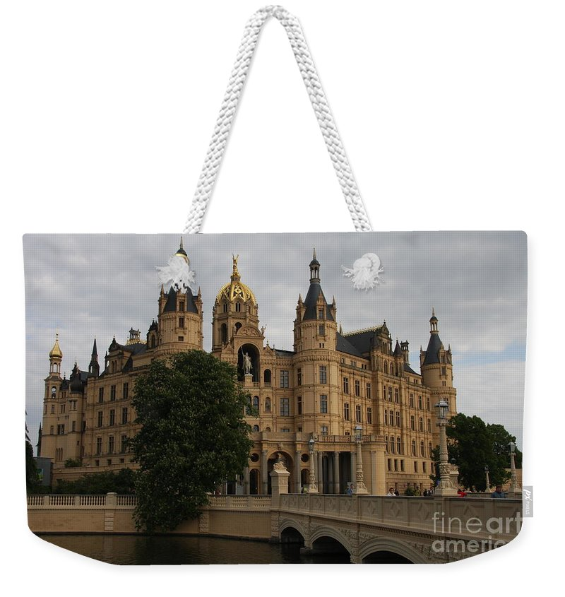 Schwerin Weekender Tote Bag featuring the photograph Front View Of Palace Schwerin by Christiane Schulze Art And Photography