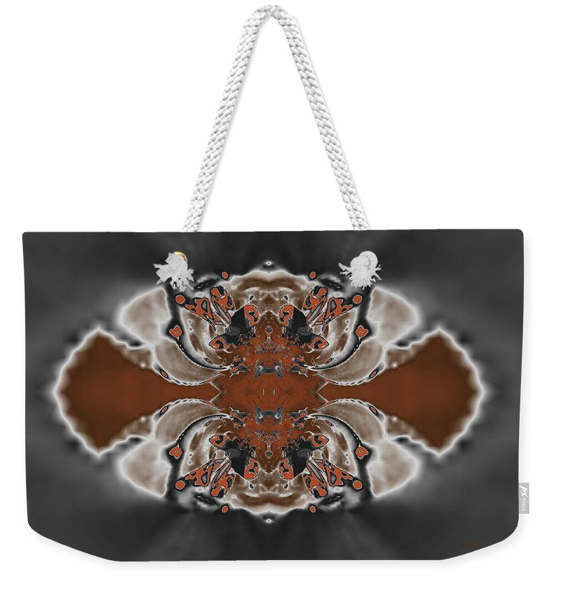 Abstract Weekender Tote Bag featuring the digital art Frost And Woodsmoke 3 by Judi Suni Hall